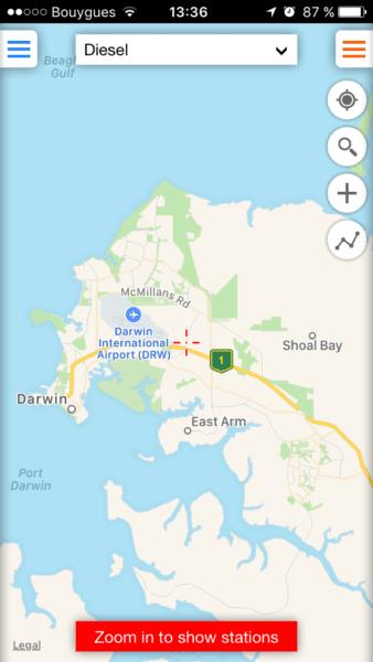 Application Fuel map