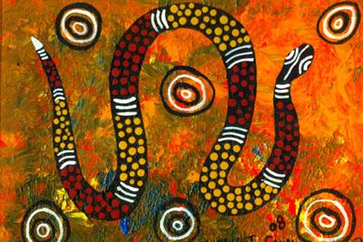 Peinture Rainbow serpent des Aborigènes