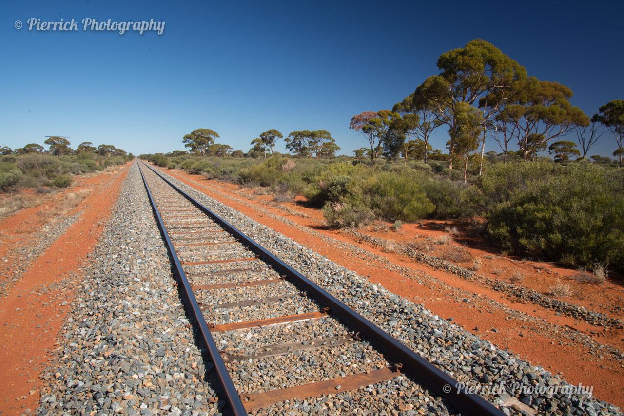 Chemin de fer dans le Golden outback