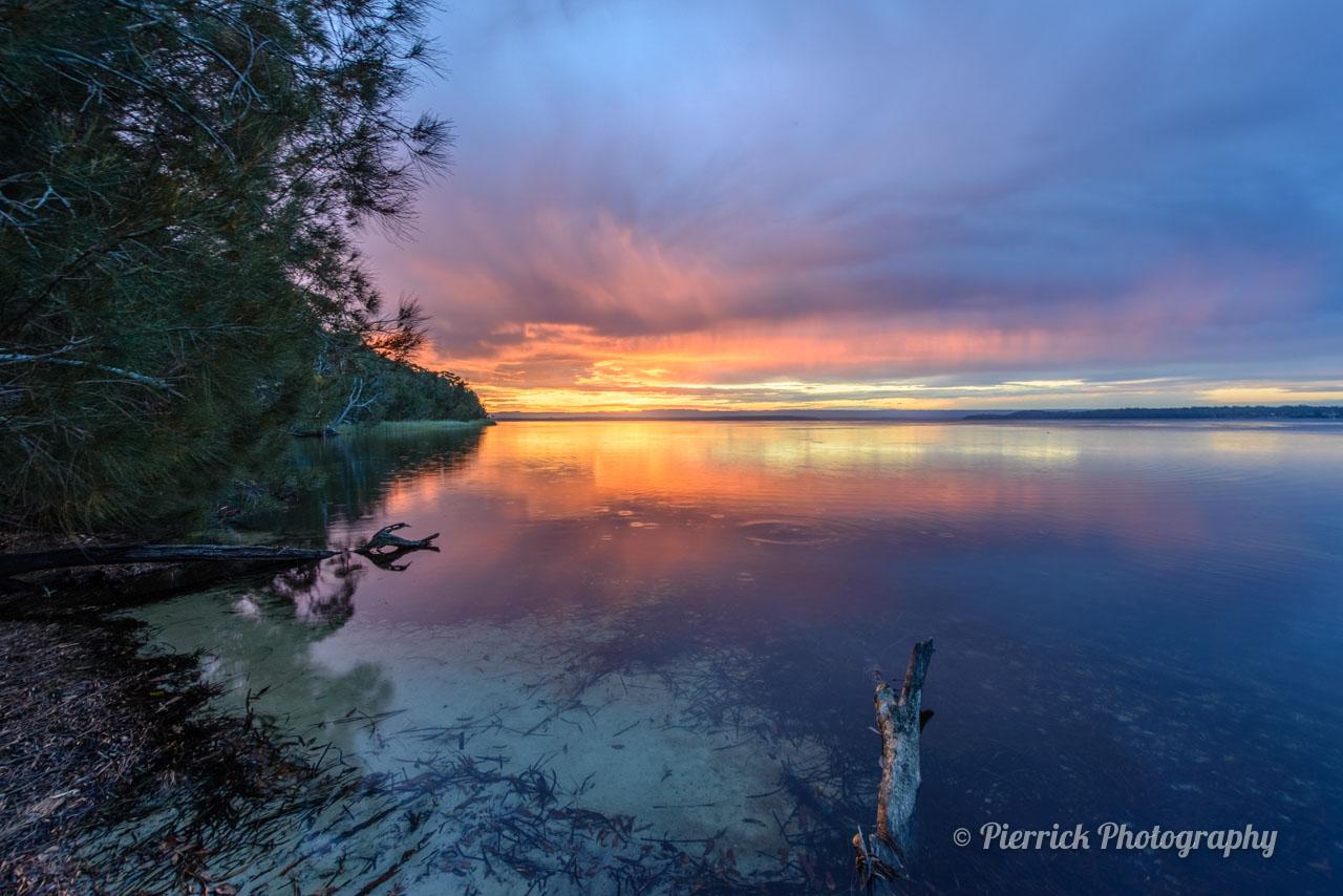Jervis bay - Parc national de booderee - St georges basin au coucher de soleil