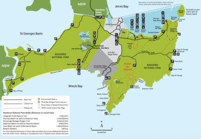 Jervis bay - Parc national de booderee - Map