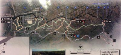 Plan des Katherine gorges dans le parc national Nitmiluk