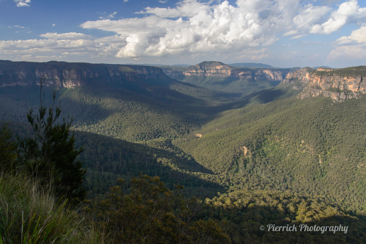 Govetts leap lookout dans les Blue Mountains