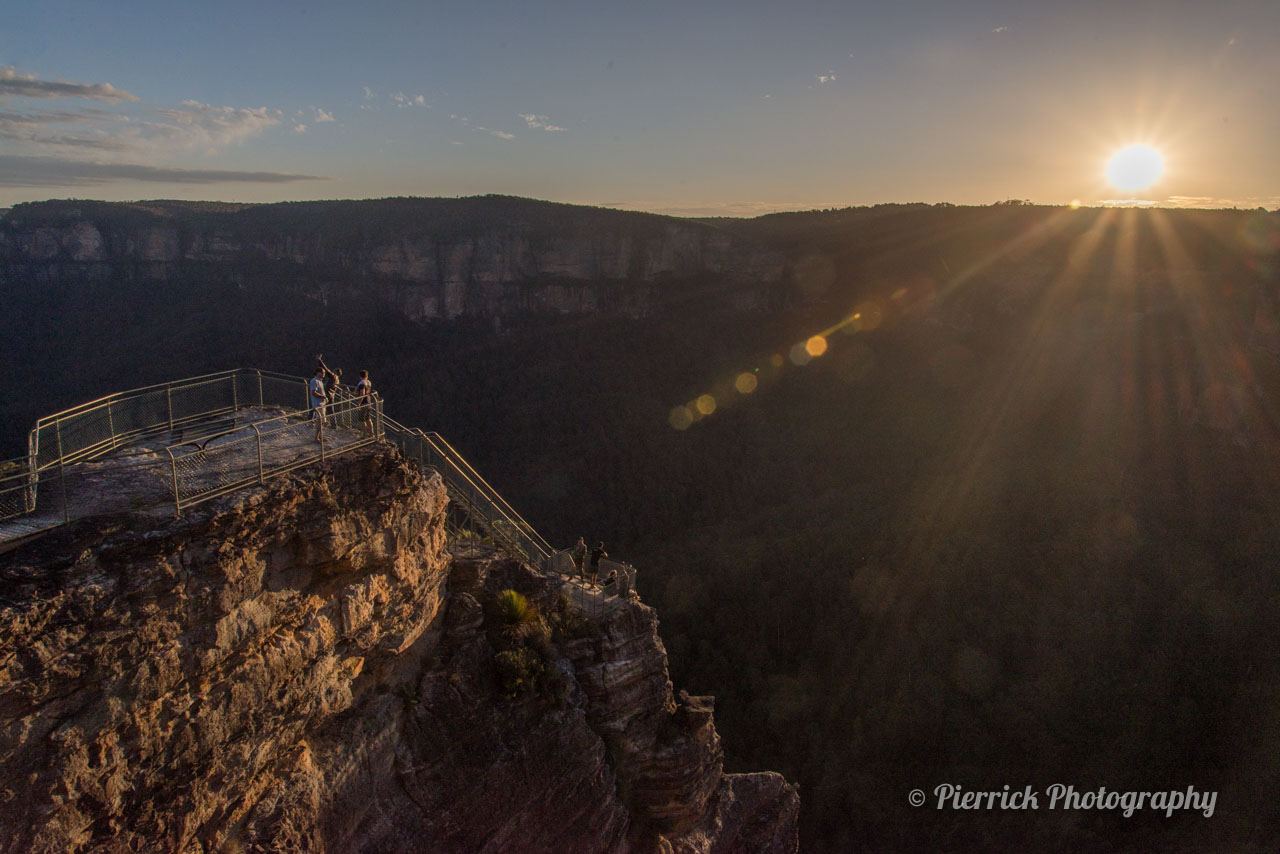 Pulpit rock lookout dans les Blue Mountains