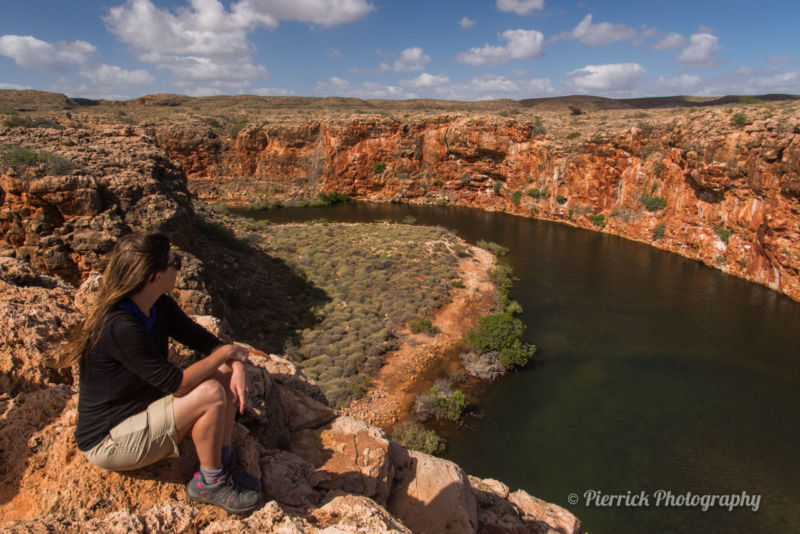 Yardie creek gorge dans le parc national Cape range