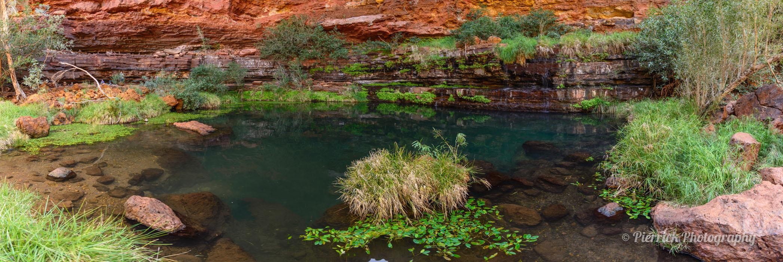 Circular pool dans la gorge de Dales dans le parc national Karijini