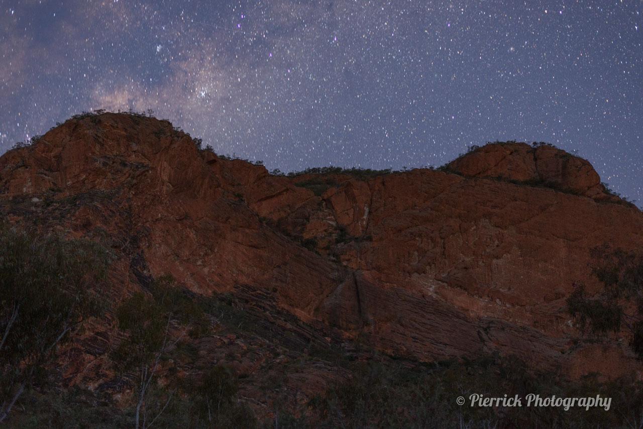 Ciel étoilé dans le parc national de Purnululu