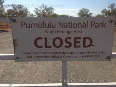 Entrée du parc Purnululu