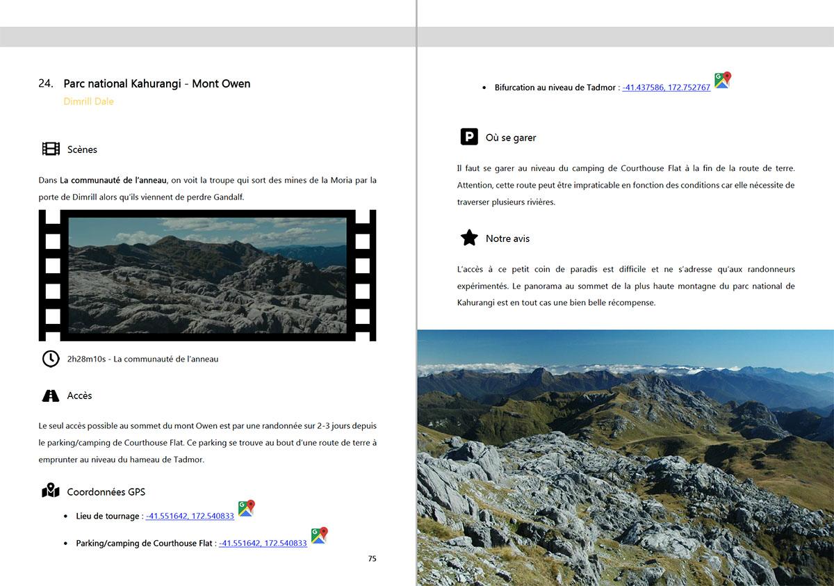 Exemple de page de l'ebook - 45 lieux de tournage du seigneur des anneaux