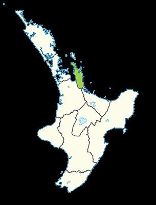Carte île du Nord Nouvelle-Zélande - Péninsule du Coromandel