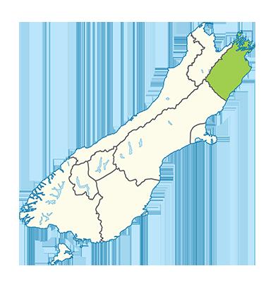Carte île du Sud Nouvelle-Zélande - Marlborough