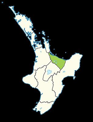 Carte île du Nord Nouvelle-Zélande - Rotorua et Bay of Plenty