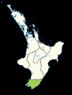 Carte île du Nord Nouvelle-Zélande - Région de Wellington