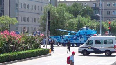 Char parade militaire à Pékin