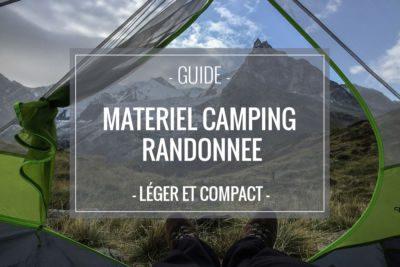 Matériel de camping léger et compact pour voyager en sac à dos et randonner