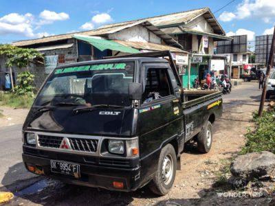 Véhicule du trajet Bali à Sembalun Lawang