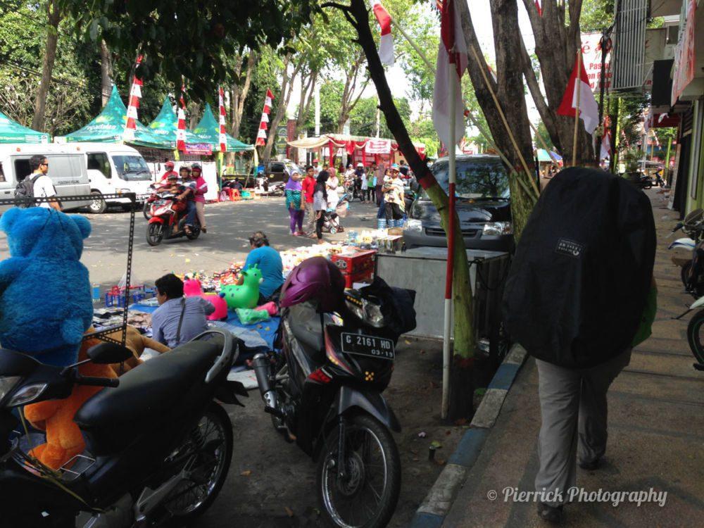 Marcher à pied sur Bali