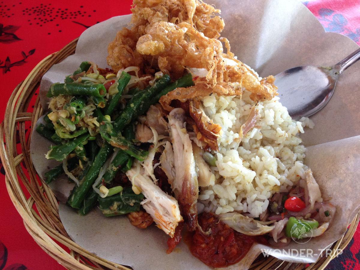 Cuisine indonésienne - Plat - Nasi campur
