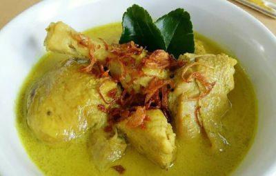 Cuisine indonésienne - Plat - Opor ayam