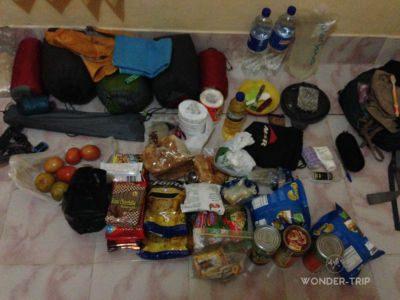 Contenu du sac à dos pour trek du Rinjani