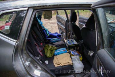 Contenu de la voiture pendant road trip en Australie