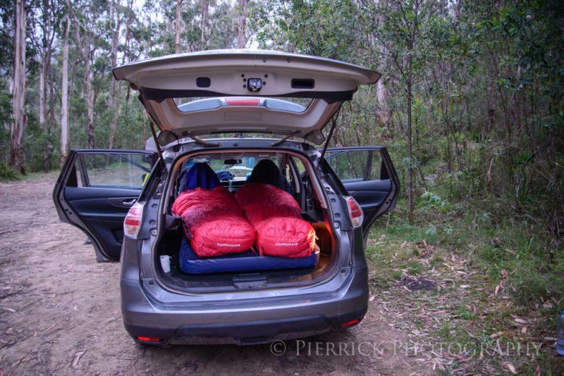 Mode couchage de la voiture pendant road trip en Australie