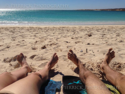 Farniente sur une plage paradisiaque en Australie