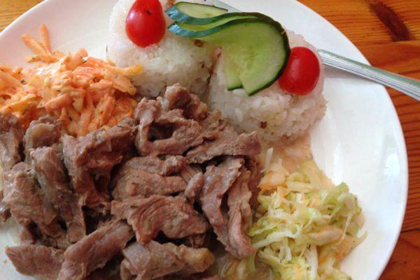 Cuisine en Mongolie - Mouton au riz
