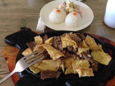 Cuisine en Mongolie - Viande et riz frit aux oeufs