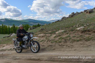 Motard en Mongolie