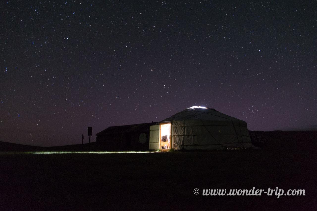 Yourte d'une famille de nomade en Mongolie