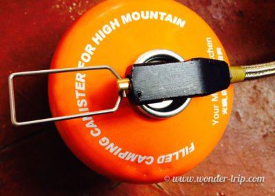 Bouteille de gaz pour camping en Mongolie