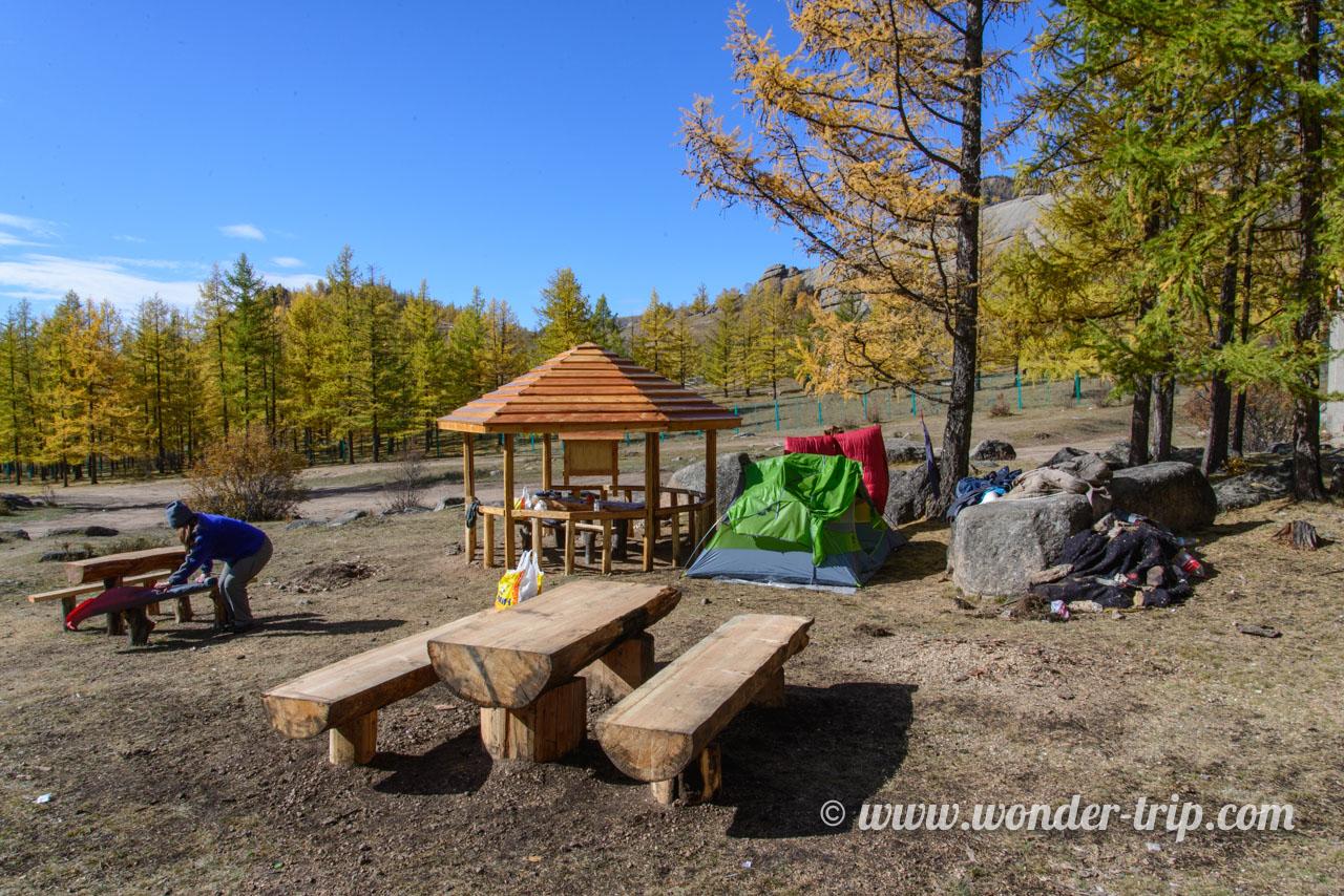 Camping sauvage dans le parc national de Terelj