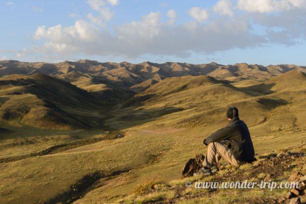 Paysage à proximité de Yolyn Am en Mongolie