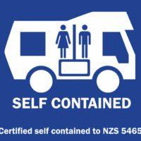 Self contained sticker en Nouvelle-Zélande