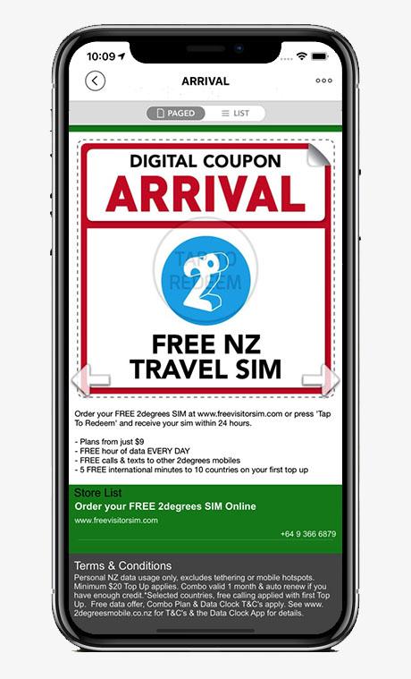 Capture écran application Arrival Mag Special Offers