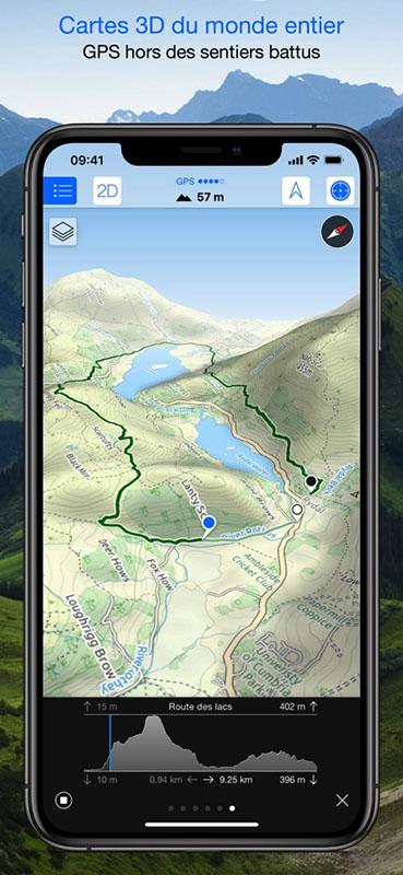 Capture écran application Maps 3D