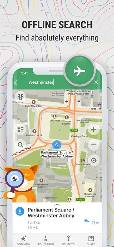 Capture écran application MapsMe