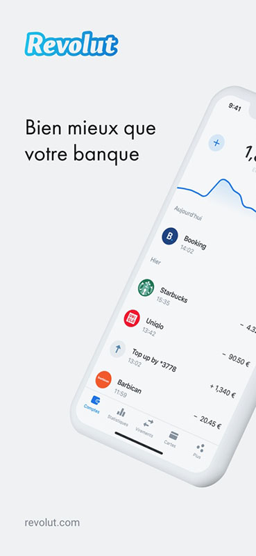 Capture écran application Revolut