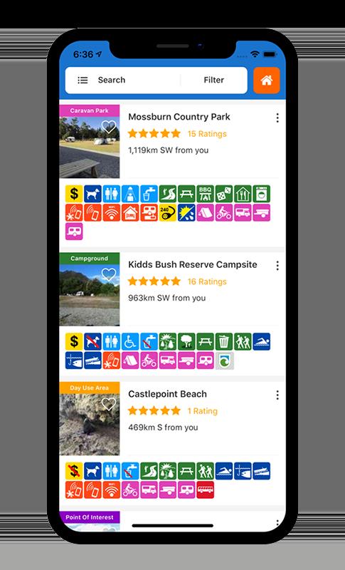 Capture écran application Wikicamp Nouvelle-Zélande
