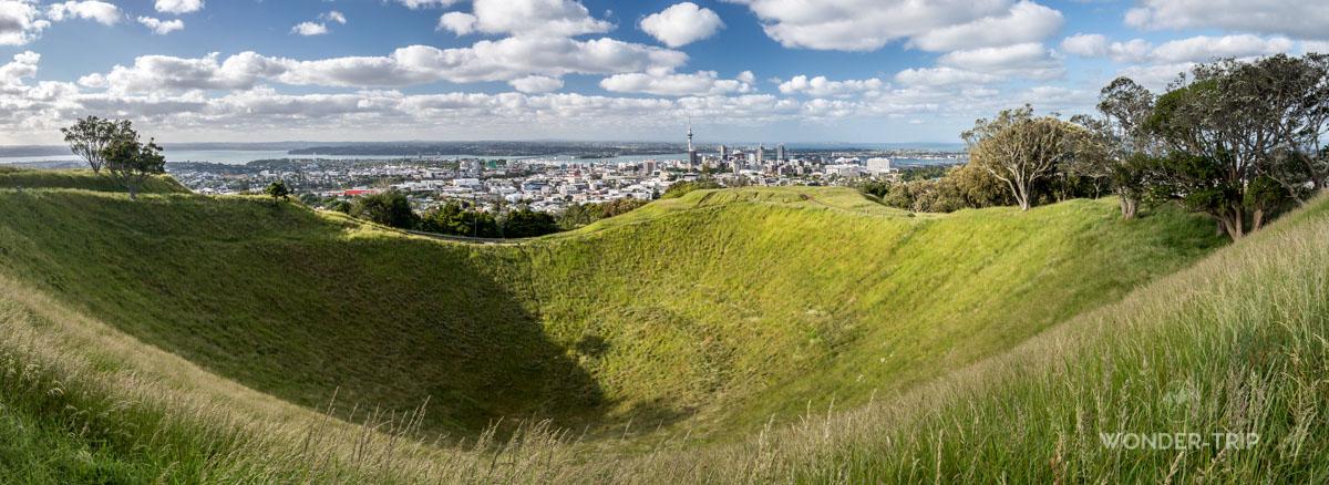 Volcan en plein coeur de la ville d'Auckland