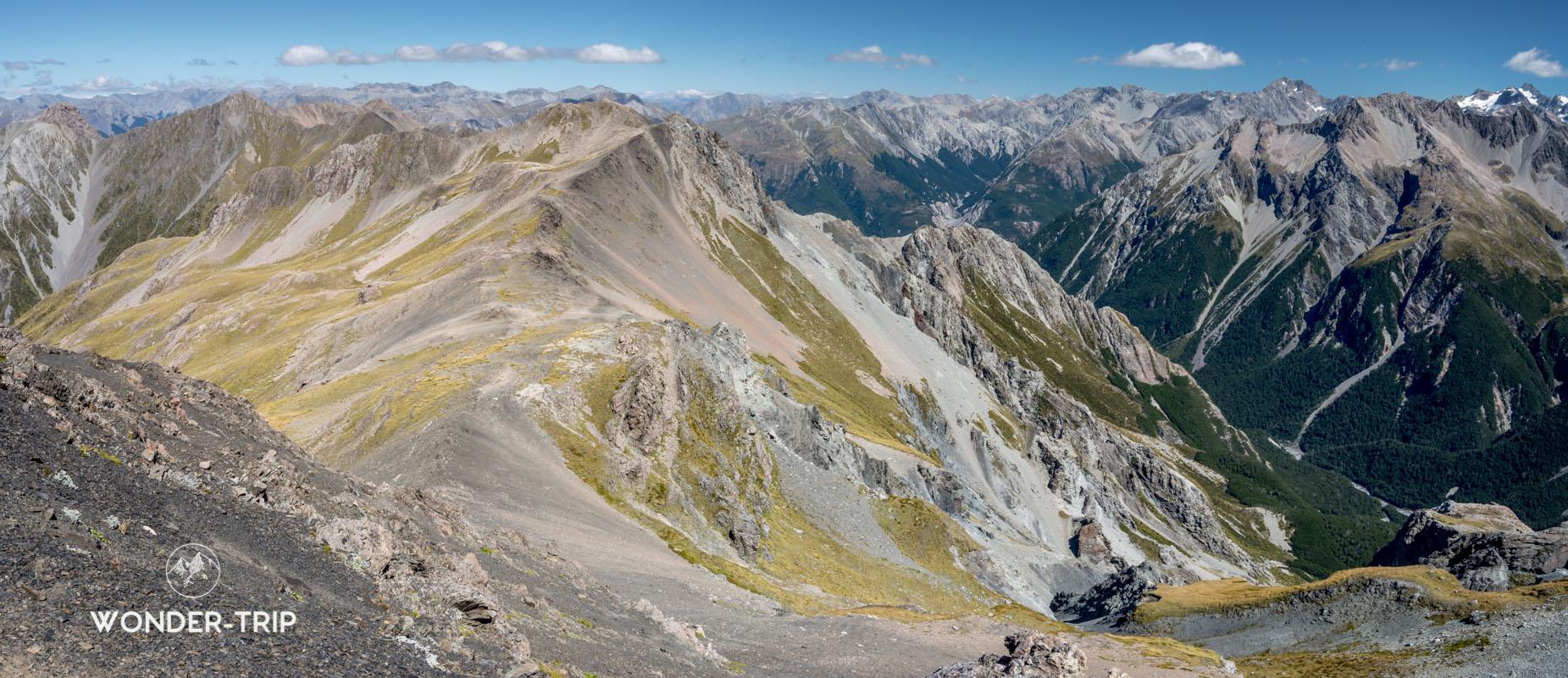 Panorama au sommet d'Avalanche peak
