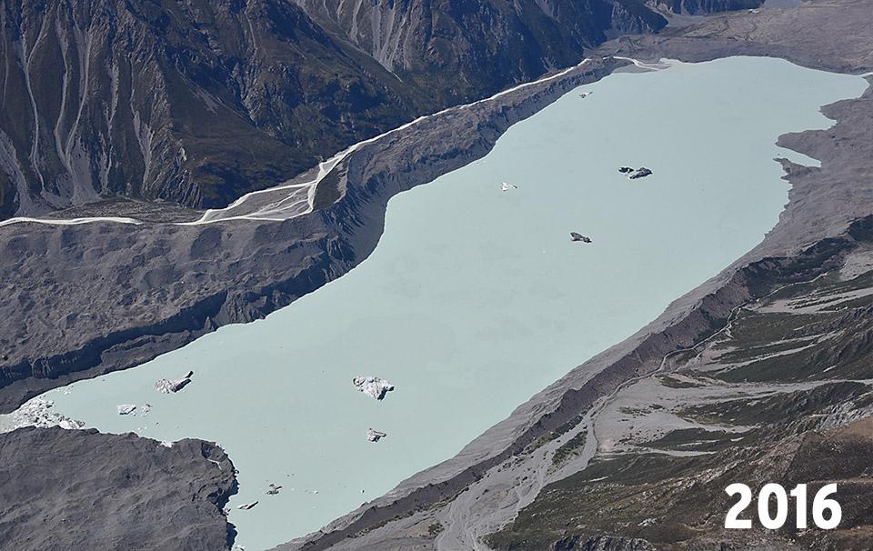 Glacier Tasman en 2016