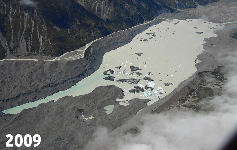 Glacier Tasman en 2009
