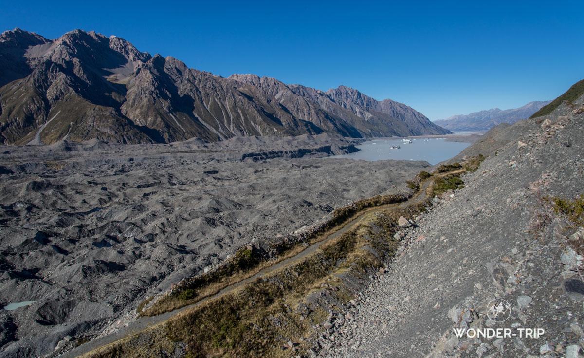 Mont cook - Glacier Tasman - Randonnée de Ball Hut