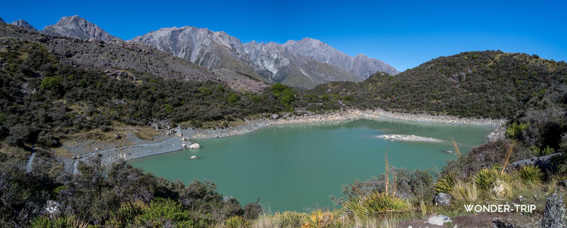 Mont cook - Tasman glacier - Blue lakes