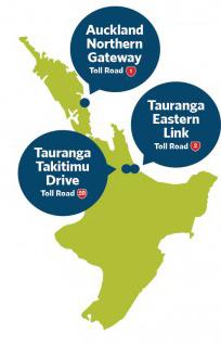 Carte des routes à péage en Nouvelle-Zélande