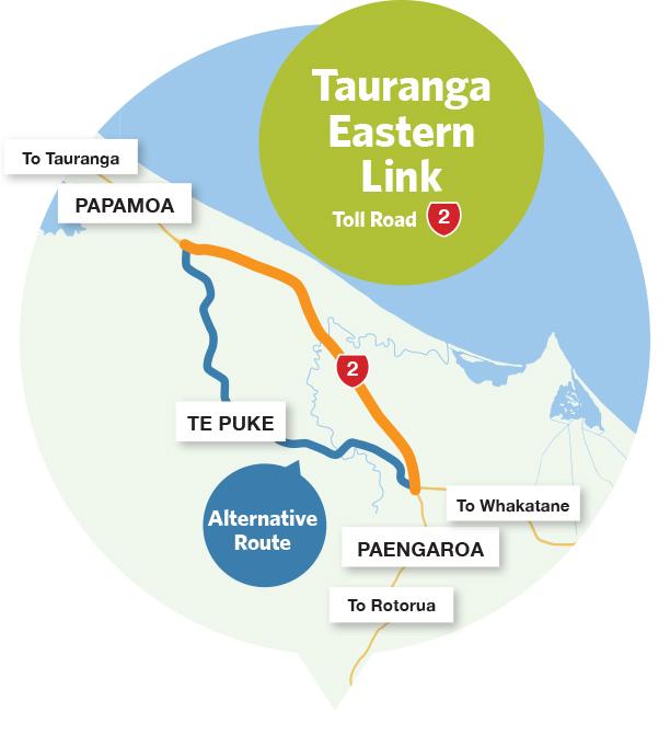 Route à péage de Tauranga Eastern Link
