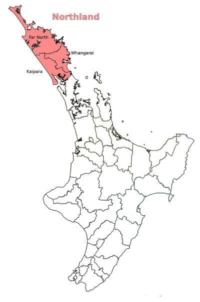 Région Northland - Règles du camping sauvage en Nouvelle-Zélande