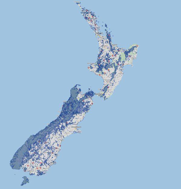 Terres publics protégées en Nouvelle-Zélande